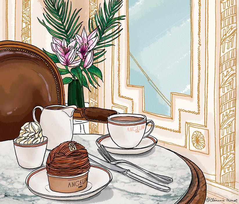 Cl mence monot illustration agence marie bastillemarie - Salon de the bastille ...